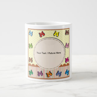 Picture frame with fullcolor butterfly large coffee mug