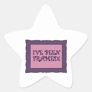 Picture Framed! Star Sticker