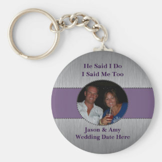 Picture Key Chain Wedding Favor