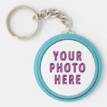 Picture Keychains surrounded by Aqua Frame