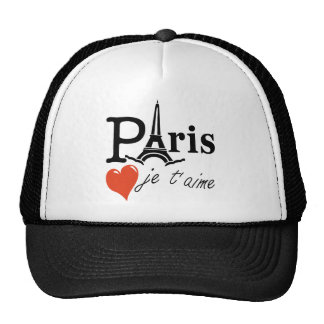 picture love paris trucker hat