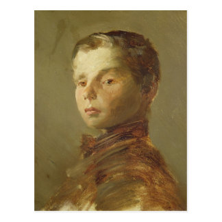 Picture of a Boy, 1875 Postcard