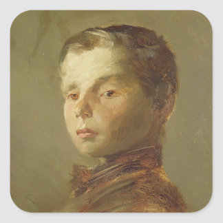 Picture of a Boy, 1875 Square Sticker