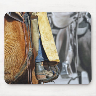 Picture Of A Cowboy Boot Mouse Pad
