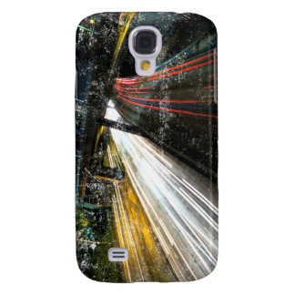 Picture Of A Freeway At Night With Scratches Galaxy S4 Case