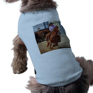 Picture Of A Horse And A Cowgirl Dog T-shirt
