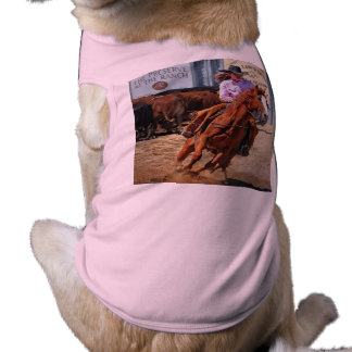 Picture Of A Horse And A Cowgirl Dog Tee Shirt