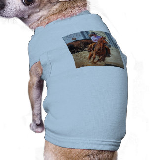 Picture Of A Horse And A Cowgirl Dog Shirt