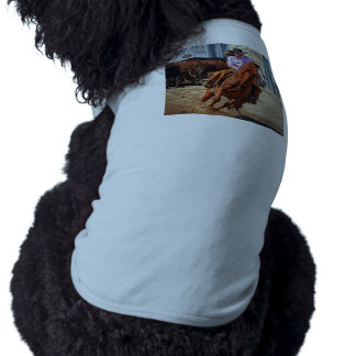 Picture Of A Horse And A Cowgirl Dog Tee