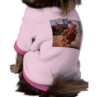 Picture Of A Horse And A Cowgirl Pet Tee Shirt