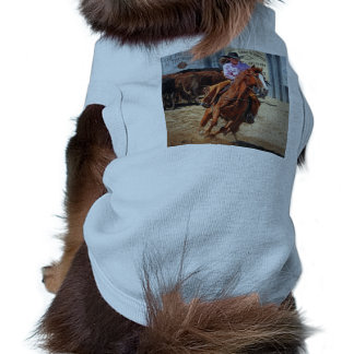 Picture Of A Horse And A Cowgirl Pet Tee