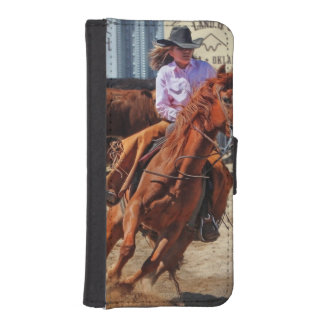 Picture Of A Horse And A Cowgirl Wallet Phone Case For iPhone SE/5/5s
