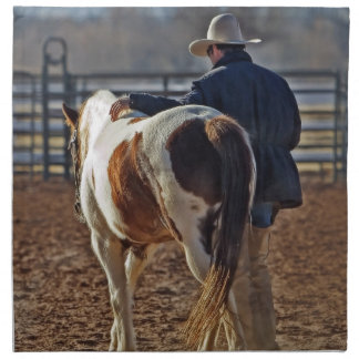 Picture Of A Horse Walking With A Cowboy Cloth Napkin