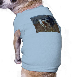 Picture Of A Horse Walking With A Cowboy Pet T Shirt