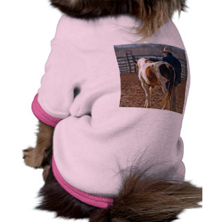 Picture Of A Horse Walking With A Cowboy Dog T Shirt