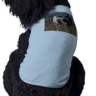 Picture Of A Horse Walking With A Cowboy Dog Tee Shirt