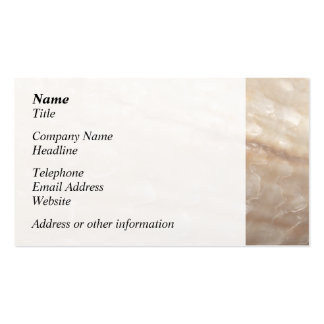 Picture of a shell. business card