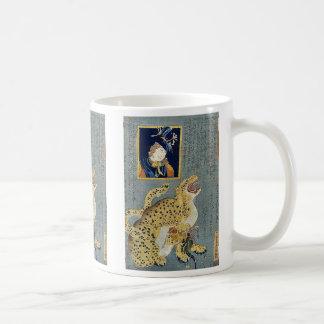 Picture of a tiger by Ochiai, Yoshiiku Ukiyoe Coffee Mug