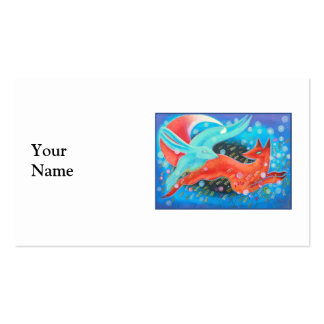 Picture of Animals, A fox and A Hare. Business Card