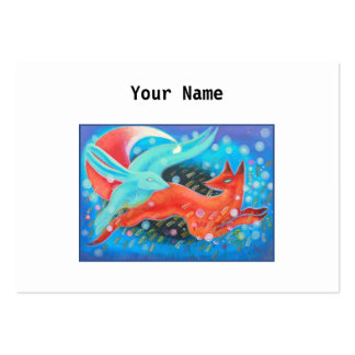 Picture of Animals, A fox and A Hare. Large Business Card