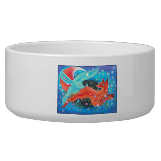Picture of Animals, A fox and A Hare. Dog Food Bowl