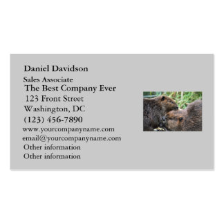 Picture of Beavers Grooming Double-Sided Standard Business Cards (Pack Of 100)