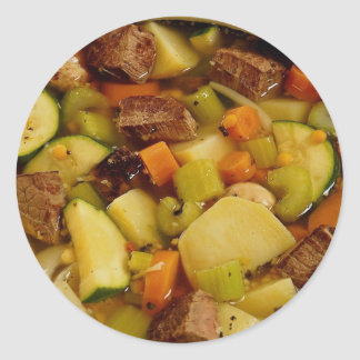Picture of Beef stew Classic Round Sticker