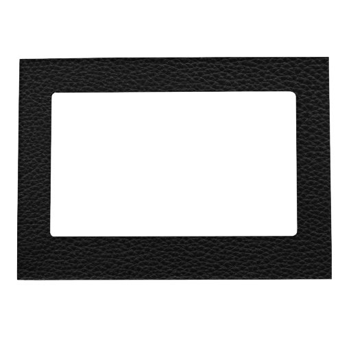 Picture of Black Leather. Magnetic Picture Frames