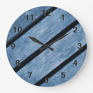 Picture of Blue Wood Planks Clocks