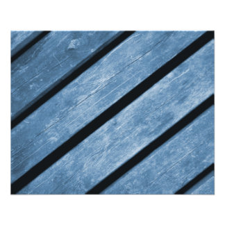 Picture of Blue Wood Planks Flyer