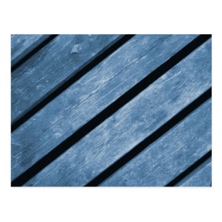 Picture of Blue Wood Planks Postcard