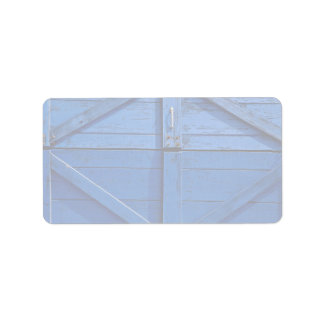 Picture of Blue wooden door Address Label