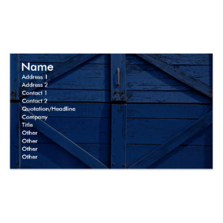 Picture of Blue wooden door Business Card
