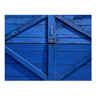 Picture of Blue wooden door Postcard
