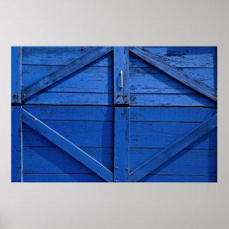 Picture of Blue wooden door Poster