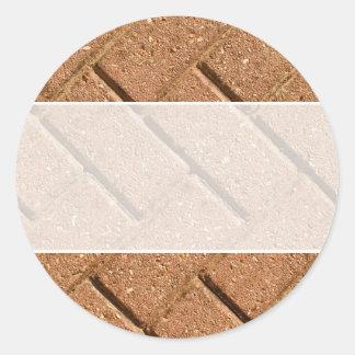 Picture of Bricks. Classic Round Sticker
