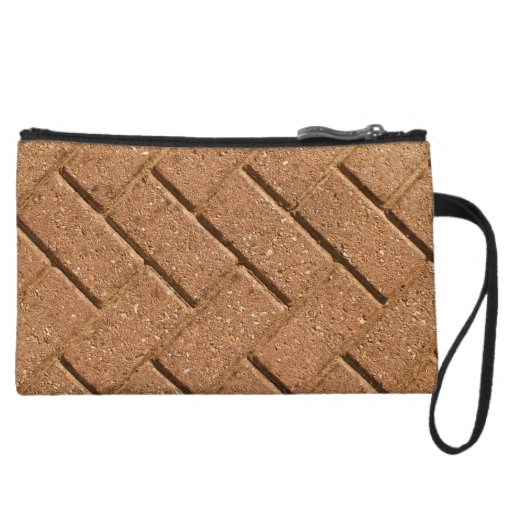 Picture of Bricks. Wristlet Clutch