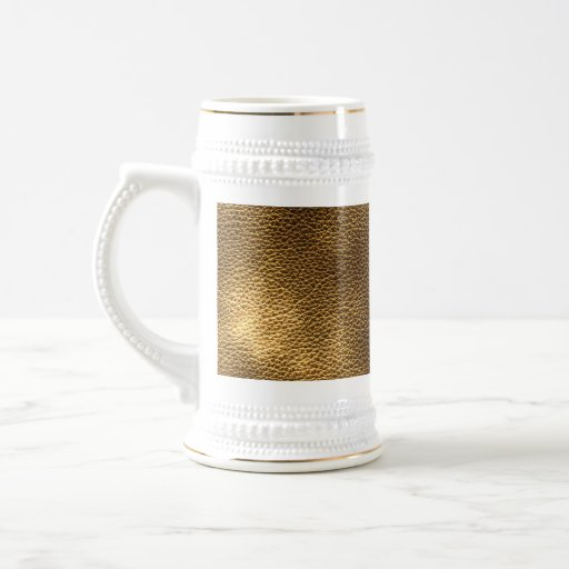 Picture of Brown Leather. 18 Oz Beer Stein