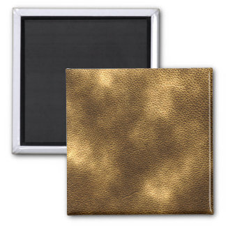 Picture of Brown Leather. 2 Inch Square Magnet