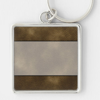 Picture of Brown Leather. Keychain