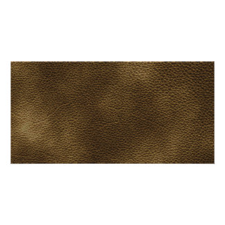 Picture of Brown Leather. Photo Cards