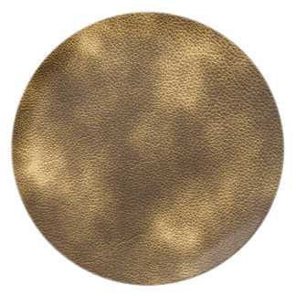 Picture of Brown Leather. Party Plates
