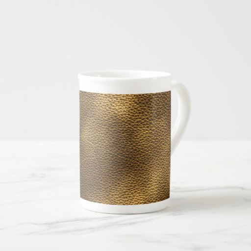 Picture of Brown Leather. Porcelain Mugs
