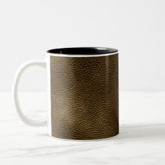Picture of Brown Leather. Two-Tone Coffee Mug