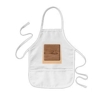 Picture of Brown Wood. Kids' Apron