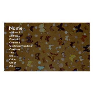 Picture of Butterflies on sand with shells Double-Sided Standard Business Cards (Pack Of 100)