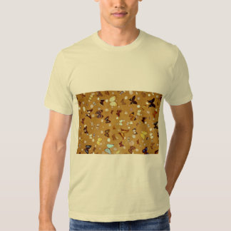 Picture of Butterflies on sand with shells T Shirt
