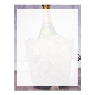 Picture of Champagne in glass ice bucket Letterhead Template