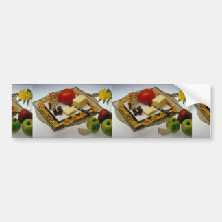 Picture of Cheese on a platter Car Bumper Sticker
