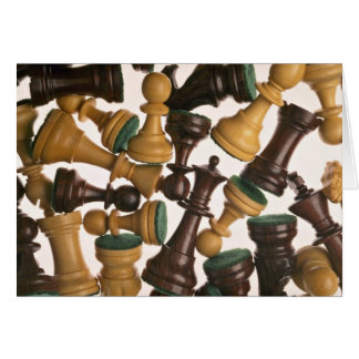 Picture of Chess pieces Greeting Card